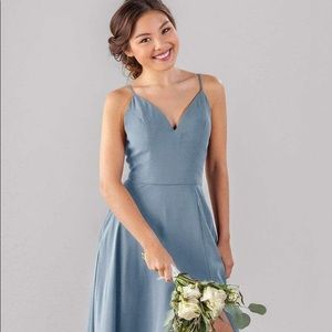 Kennedy Blue Slate Blue Bridesmaid Dress